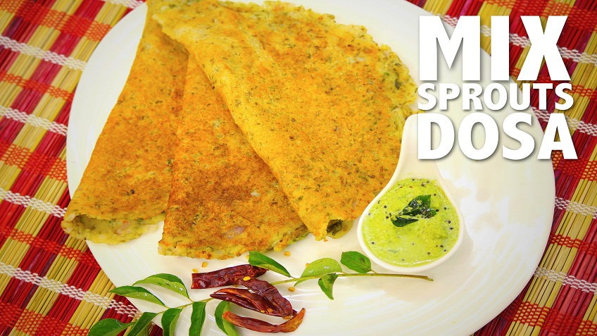 Mix sprouts dosa