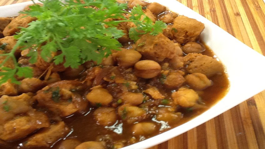chole soya curry