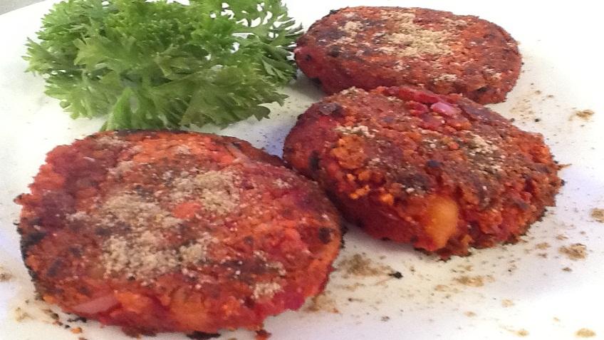 chukandar aur chickpea kebab