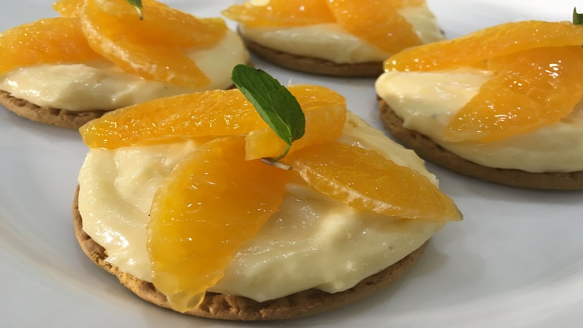digestive orange cheese cake