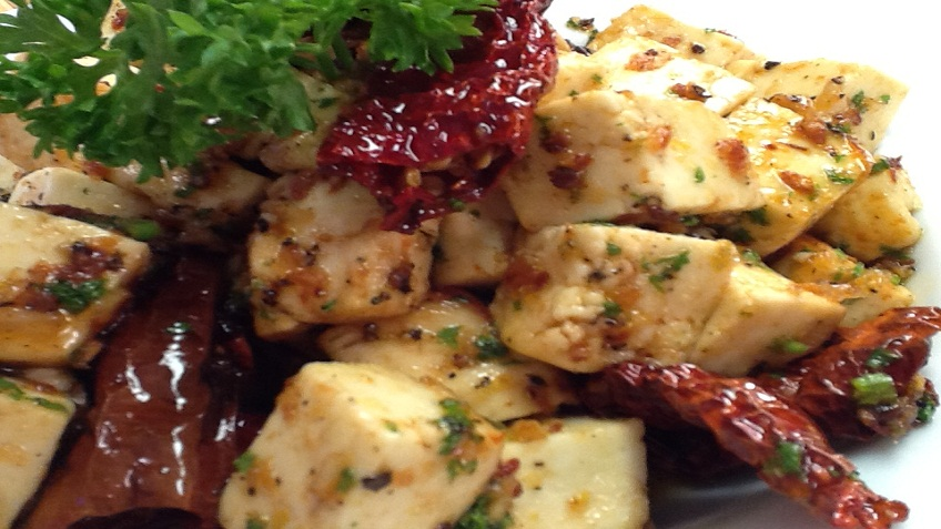paneer with lemon and honey sauce