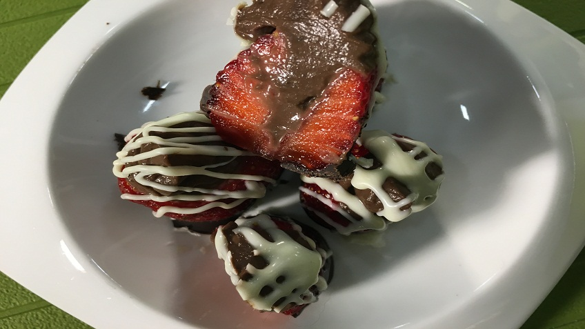 Strawberry Stuffed Ganache