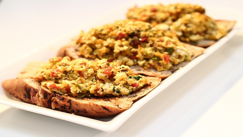 Karela paneer bhurjee on toast