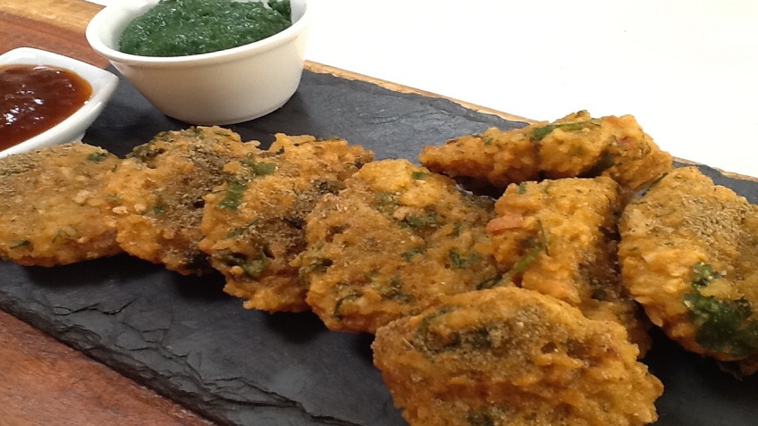 spicy rice pakora