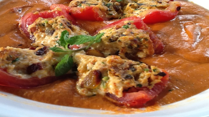 STUFFED TOMATOES IN TOMATO GRAVY